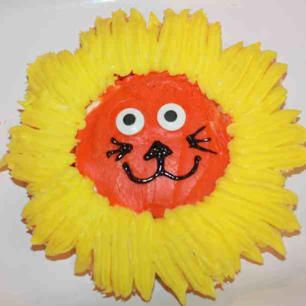 Assemble some pre-made cakes and add a little frosting to make this adorable Lion Guard cupcake cake! Perfect for a kids birthday party!