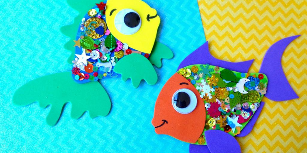 Confetti Fish Craft For Kids Views From A Step Stool