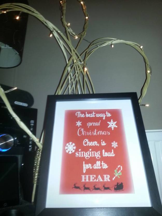 sign with quote from efl christmas cheer and willow angel