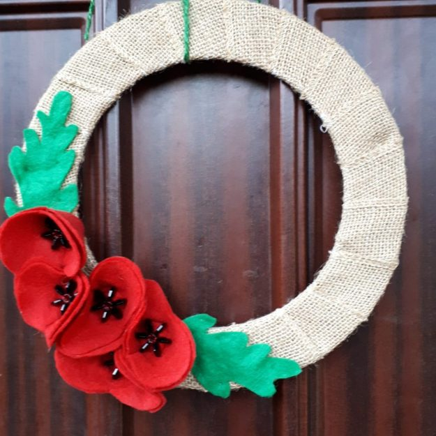 Remembrance Day Poppy wreath - November 2018
