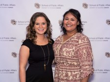 Outstanding BACJ internship Soukaina Latrache and BACJ advisor Nora Scanlon