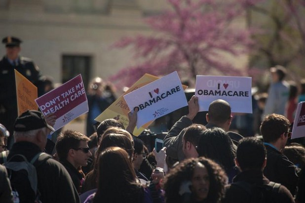Protest for / against The Patient Protection and Affordable Care Act AKA Obamacare in fron of Supreme Court in Washington DC. (By Tabitha Kaylee Hawk)