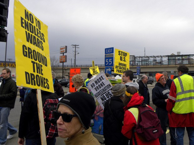Protesters oppose US drone war at a rally in Minneapolis, Minnesota, early this year. (photo by Fibonacci Blue, Creative Commons License)