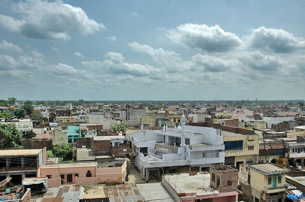 A bird-eye view of Muzaffarnagar, the scene of deadly Hindu-Muslim violence. (by Sun Pictures, Creative Commons License)