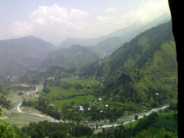 Leepa Karnah Valley. The Line of Control (the disputed border between India and Pakistan) passes through the middle of the valley. (Photo by Umair Shafiq)