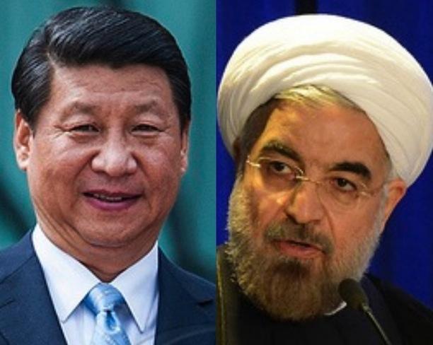 Chinese President Xi Jinping and Iranian President  Hassan Rouhani. (Viewsweek