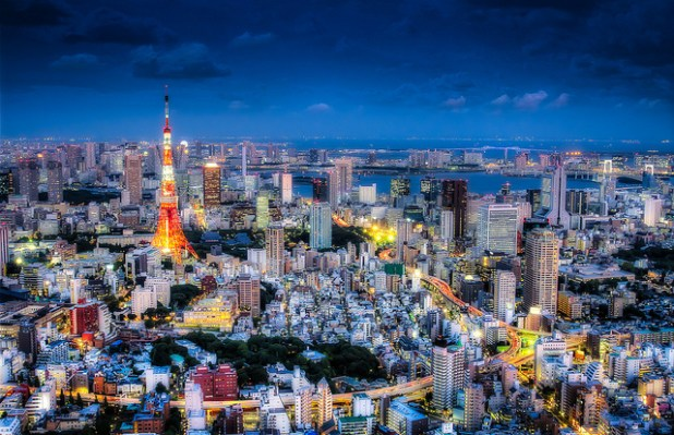 A panoramic view of Tokyo during night time. (Photo by iwillbehomesoon, Creative Commons License)