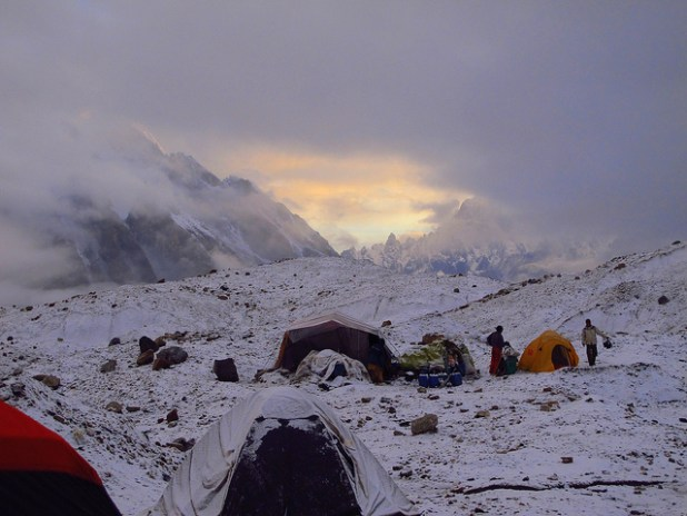 A view of Baltoro Glacier at sunet in Pakistan's Gilgit-Baltistan province. (Photo by Aamir Choudhry)