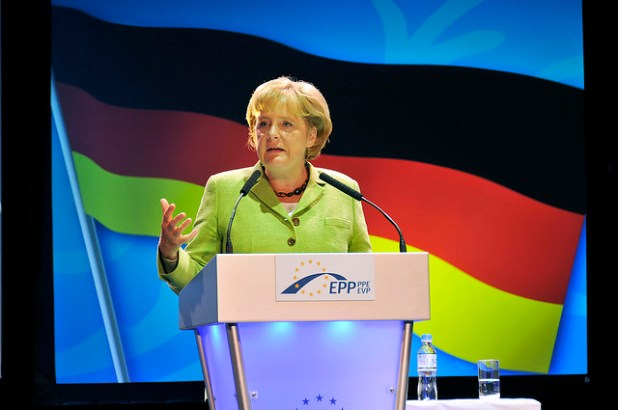 Chancellor Angela Merkel was re-elected for the third time in Sept.22 elections.
