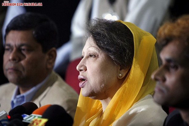 Bangladeshi opposition lead by Begum Khaleda Zia, Chairperson of Bangladesh Nationalist Party, fear large-scale vote fraud if elections are held under Sheikh Hasina Wajid's government. (Photo by Jingo of Bangladesh, Creative Commons License)