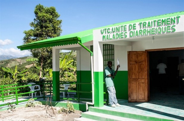 A new treatment centre for diarrhoeal illnesses on the grounds of the hospital of Moulin, in Haiti's Artibonite department. (Photo by Nancy Palus/IRIN)