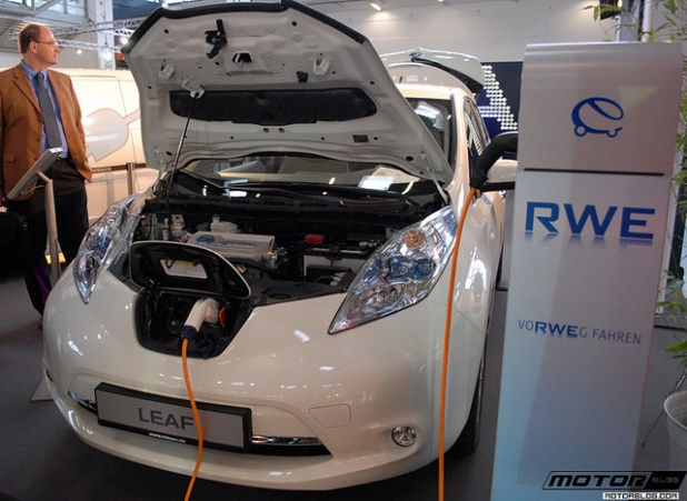 Nissan's Leaf electric car. (Photo by motorblog, Creative Commons License)