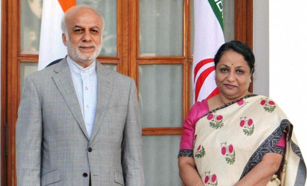 That the Geneva deal may have reduced the scope for military confrontation between Israel/U.S. and Iran also aids India's interests. Picture is of Iran's Deputy Foreign Minister Ebrahim Rahimpour with Foreign Secretary Sujata Singh. (PTI photo via The Hindu)