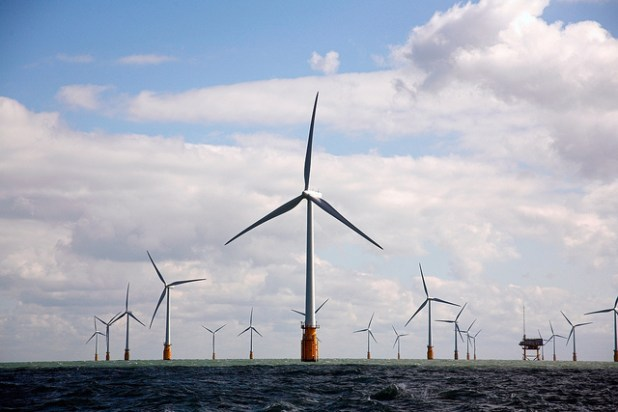 On 23 September 2010: Vattenfall opened the world's largest offshore wind farm, Thanet Offshore Wind Farm, off England's south east coast. The wind farm has 100 turbines and generate electricity equivalent to the annual consumption of over 200,000 British households. (Photo by Nuon)