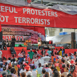 """A file photo a protest """"Red Shirts"""" in Thai capital  in Bangkok. (Photo by Ratchaprasong, Creative Commons License)"""