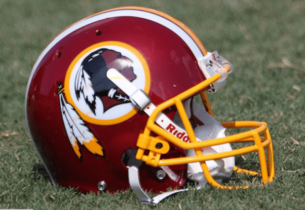 Washington Red skins helmet. (Photo by Keith Allison, Creative Commons License)