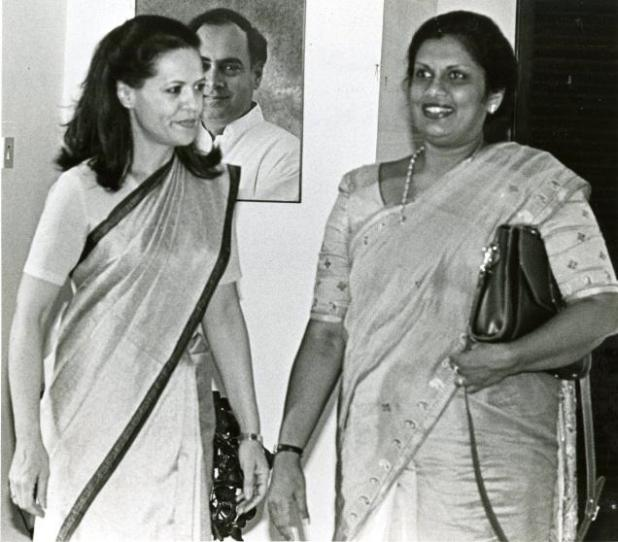 STEPPING ASIDE: There is something seemingly inevitable about dynasty in democracies across South Asia but Chandrika Bandaranaike Kumaratunga (right) gave up control of a party founded and nurtured by her family, and retreated from politics. (Photo via The Hindu archives)