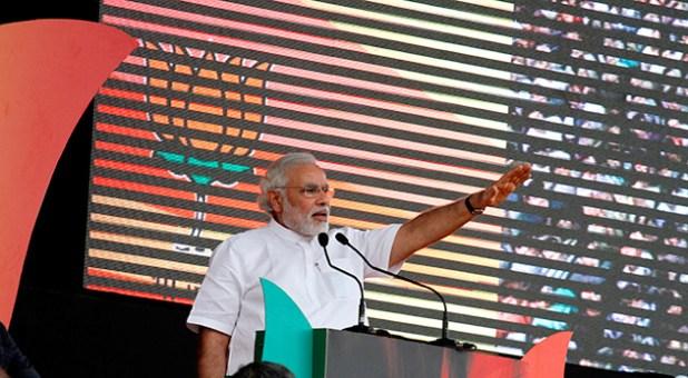 BJP's prime ministerial candidate Narendra Modi.