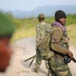 FARDC commandos on patrol in Virunga National Park, Rutshuru Territory, North Kivu Province. (Photo by Guy Oliver/IRIN)