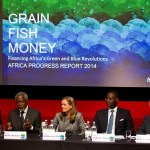 "Chaired by former UN Secretary General, Kofi Annan, the Africa Progress Panel presents this year's Africa Progress Report - ""Grain, Fish, Money - Financing Africa's Green and Blue Revolutions"" in London on Thursday, May 8. (Photo by Jess Hurd/Africa Progress Panel)"