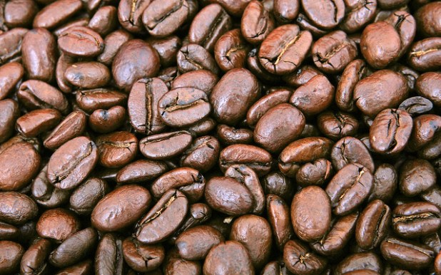 Natural coffee beans. (Photo by Lilian Wong, Creative Commons License)