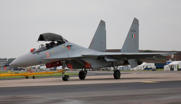 Sukhoi Su-30MKI Flanker-H of the Indian Air Force. (Photo by I Wish I could fly, Creative Commons License)