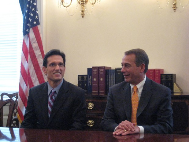 Eric Cantor with Speaker John Boehner. (Photo by Talk Radio News Service, Creative Commons License)
