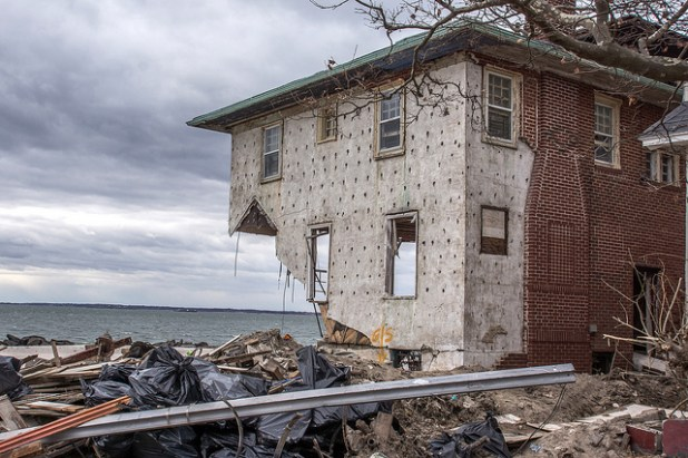 A view of Hurricane Sandy's destruction that hit the northeastern U.S. in Oct 2012. (Photo by Bob Jagendorf)