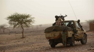 MNLA fighters patrolling in Djebok area east of Mali's northern region of Gao which they seized following fighting with government forces in May 2014. (Photo by Katarina Höije/IRIN)
