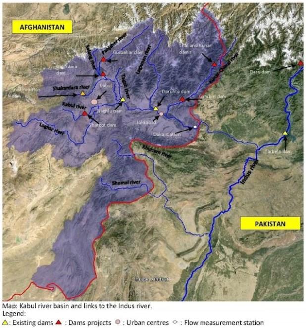 afghan rivers map