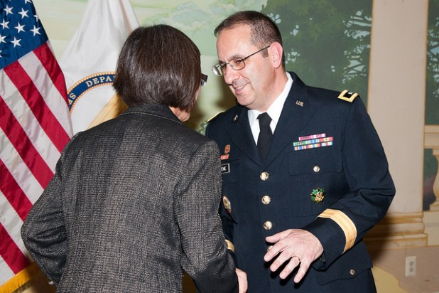 Heidi Shyu, Assistant Secretary of the Army (Acquisition, Logistics and Technology), hosted the promotion ceremony of Major General Harold J. Greene at the Fort Myer Officers Club Aug. 30, 2012. (Photo by U.S. Army RDECOM, Creative Commons License)