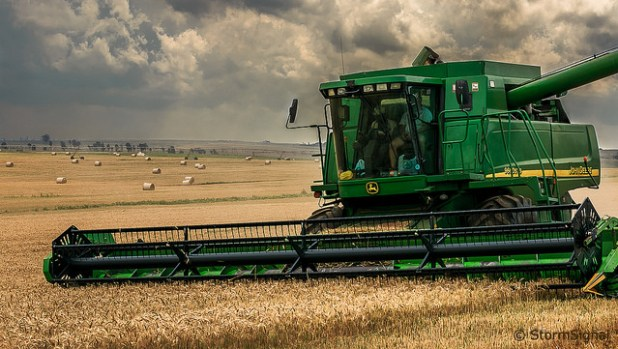 A harvester at a farm just outside of Magaliesburg, South Africa. (Photo by StormSignal, Creative Commons License)