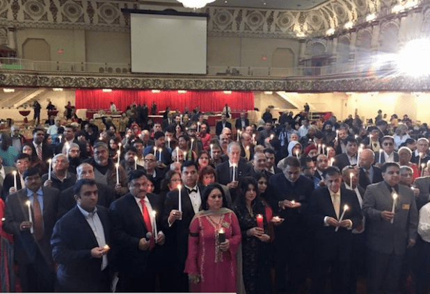 A vigil was held in New Jersey which was attended by several hundred South Asian. (Photo via Tauqeerul Haq's Facebook post)