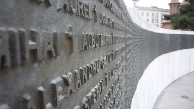 Romanian revolution memorial. (Photo by Ted Drake, Creative Commons License)