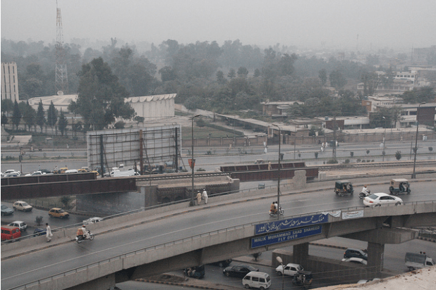 Political corruption and misgovernance is leading to long delays in the completion of projects in Peshawar, which refelects the virtual institutional breakdown in many places. (Photo by  Behram Mohmand)