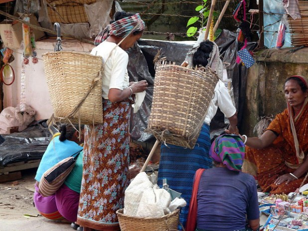 Women at a market in Bandarban, Chittagong Hill Tracts, Bangladesh. (Photo by jankie, Creative Commons License)
