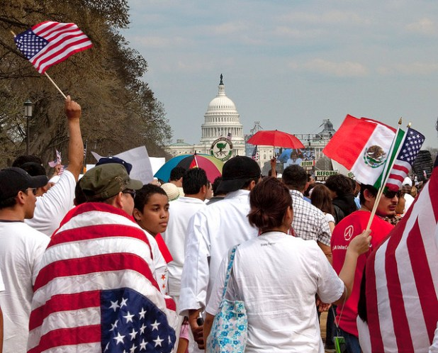 By largely letting hardliners dictate its immigration policy, the GOP is alienating Latino voters. (Photo Victoria Pickering, Creative Commons License)