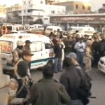 Rangers paramilitary troops raiding the MQM headquarters in Karachi. (Photo via video stream)