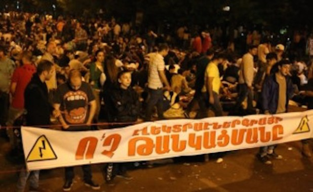 Armenians protest against increase in electricity prices. (Photo by HyeMedia)