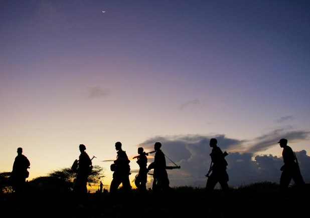 Troops Advance during Anti-Shabaab Operation in Somalia. (UN Photo:Stuart Price, Creative Commons License)