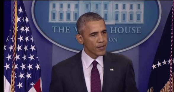 President Obama addressing the nation on Dec 6.