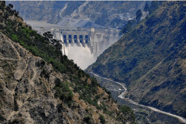 The Baglihar dam has been built on river Chenab. Photo by Surendra Pradhan via ICIMOD]
