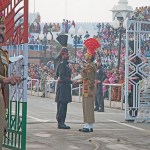 India Pakistan border at Wagah. (Photo by Koshy Koshy, Creative Commons License)
