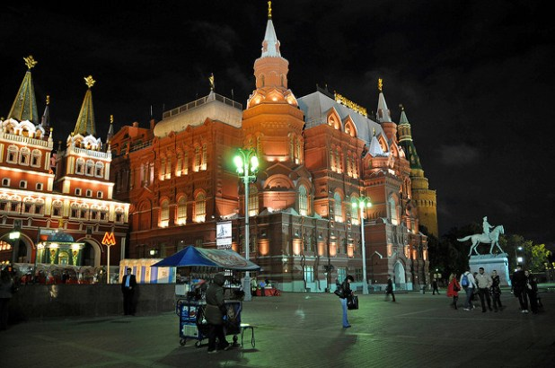 A vicinity of Moscow's famous Red Square. (Photo by Dennis Jarvis, Creative Commons License)