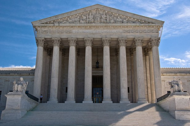 The U.S. Supreme Court building in Washington DC. (Photo by Gouldy99, Creative Commons License)