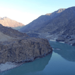The site of the Diamer Dam site on the Indus River. (Photo via thethirdpole.net)