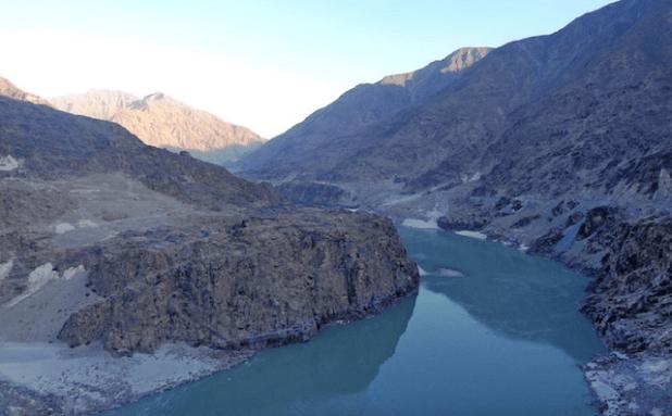 The site of the Diamer Dam site on the Indus River. (Photo via thethirdpole.net)