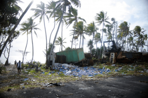 The Green Climate Fund's activities include funding adaptation plans such as the one to protect coastlines in Tuvalu, a country that climate change threatens with extinction. (Photo by Joe Hitchcock, Creative Commons License)