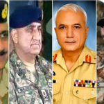 (From L to R) Lt Gen Zubair Hayat, Lt Gen Qamar Javed Bajwa, Lt Gen Javed Iqbal Ramday and Lt Gen Ishfaq Nadeem Ahmed are Pakistan Army's senior-most officers, one of whom is expected to replace General Raheel Sharif, who is retiring next month.