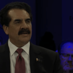 General (Retd) Raheel Sharif speaking at the Davos panel.